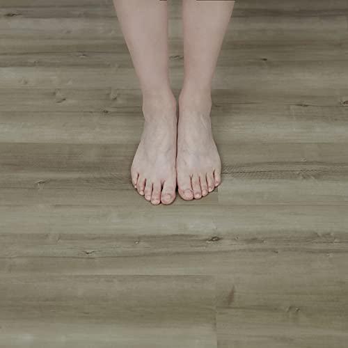 NUFLR 15X90cm Wood Self Adhesive Floor Planks Vinyl Flooring for Floor...