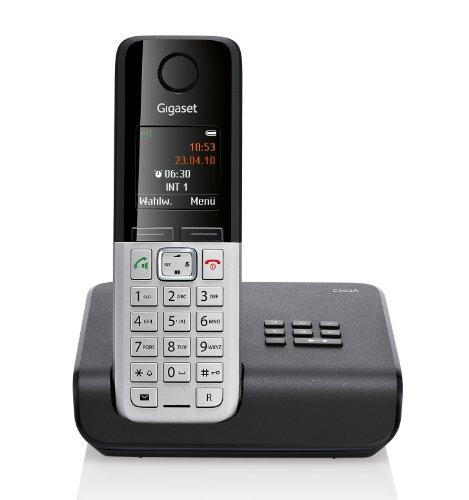 Gigaset C300A Dect-Schnurlostelefon mit Anrufbeantworter, schwarz