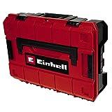 Einhell Maletín E-Case (System Box) espuma (sistema de enclavamiento, 2 insertos de espuma, diseño protegido contra salpicaduras de agua, resistencia al calor y al impacto, 2 agarres plegables)