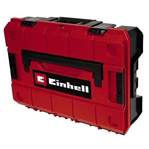 Original Einhell E-Case (System Box) Schaumstoff (für universelle Aufbewahrung von Werkzeug, 44x32x13 cm Außenmaße, max. 25 kg Beladung, Schaumstoff-Innenfutter, spritzwassergeschützt, stapelbar)