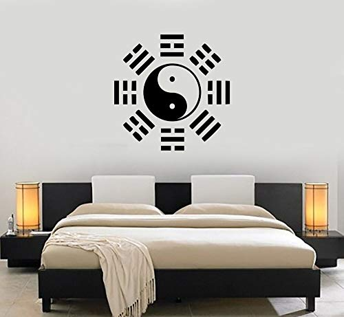 Baobaoshop Filosofía China Oriental Pegatinas de Pared de Vinilo Wallpaper Yin Yang Taiji Tatuajes de Pared Cultura China Decoración Mural Dormitorio 42x42 cm