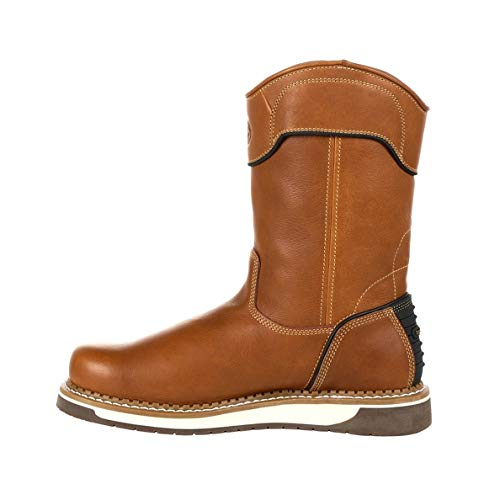 Georgia Boot AMP LT Wedge Pull On Work Boot Size 10.5(M) Brown