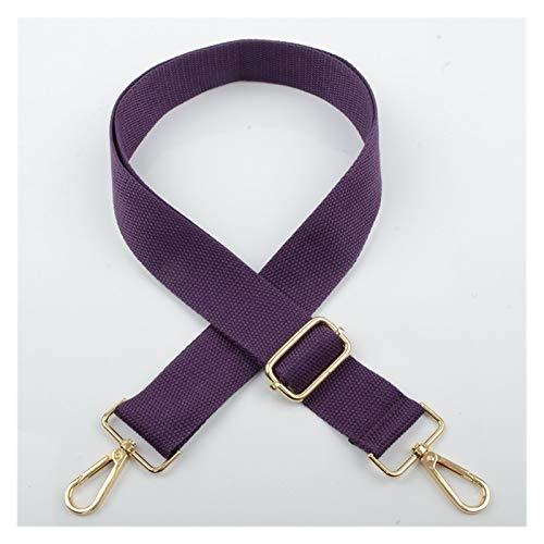 Reemplazar la cadena de la bolsa Bolsos de algodón Hombro Correa Color Sólido Longitud Ajustable Mujeres DIY Cinturón de regalo Cinturón Reemplazo Manija Crossbody Bolsos Parte Accesorios para bolsos
