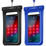 ZEINZE Floating Waterproof Phone Pouch IPX8 Universal Waterproof phone Case Drg Bag for iPhone Xs/Xr/X/8Plus/8/7Plus/7/6s/6 /Samsung Galaxy S10/S9/S8/S7 Devices Up to 6.2'(Black+Blue)