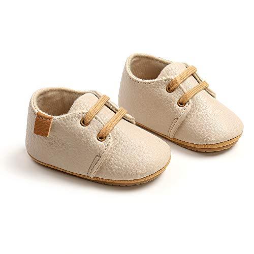 Zapatos Bebe Invierno,0-18 MesesLindos Suave de Suela Zapatos Primeros Pasos Zapatos de Invierno Cálido Botines Cuna Prewalker con Zapatos de Calcetín de Bebé (0-6 Meses, beige)