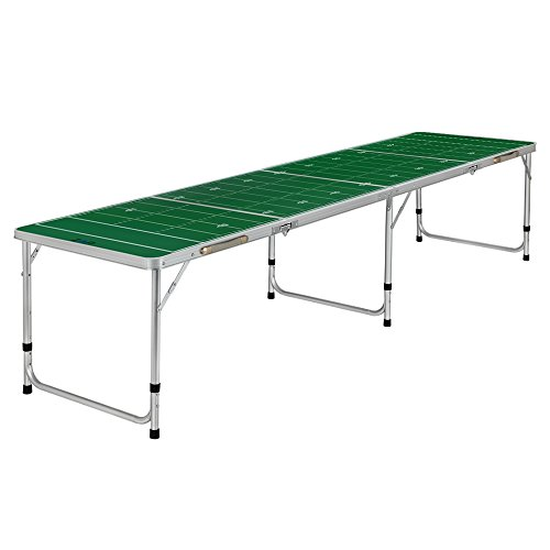ZAAP 8ft Tournament Size Folding Beer Pong/Picnic/Camping Table (8FT, Football Field)