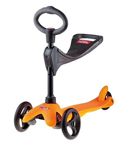 Micro Mini Micro 3in1 Roller Scooter mit Sitz orange Neu
