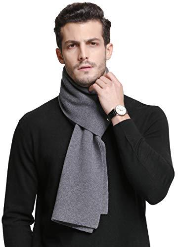 RIONA 100% Laine Echarpe Hiver Hommes, Classic Luxueux Cachemire Sentir Echarpe d'hiver, Echarpe Chaude pour les Hommes 180 * 30cm