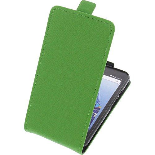 foto-kontor Tasche für Archos Access 50 4G Smartphone Flipstyle Schutz Hülle grün