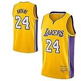 WJP Camiseta De Baloncesto Kobe Bryant Versión Retirada - Los Angeles Lakers # 24 Uniforme De Baloncesto Versión para Fanáticos, Chaleco Swingman Bordado para Hombres Retired Version-S