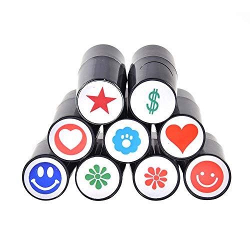 Marcador para Bolas Golf Ball Stamp Pelota De Golf Stamper Professional No Fade Fast Dry Plastic Sello De Silicona para El Marcador Color De Impresión Aleatorio
