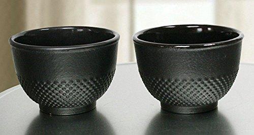 2er Set Teetasse Gusseisen schwarz asiatisch