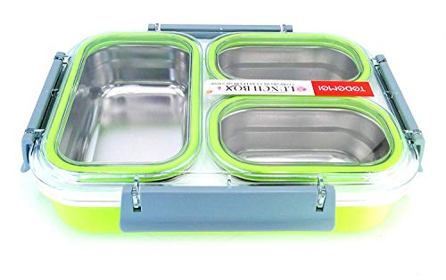 Tedemei Stainless Steel Lunch Box with 3 Compartments (1.2 L)