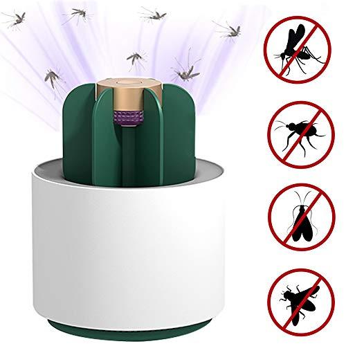 HWJF USB-Moskito-Killer für den Innenbereich, 360 ° UV-UV-Strahler für Insektenschutz, Insektenfalle mit integriertem Lüfter, Schlafzimmerküche (Kaktus)