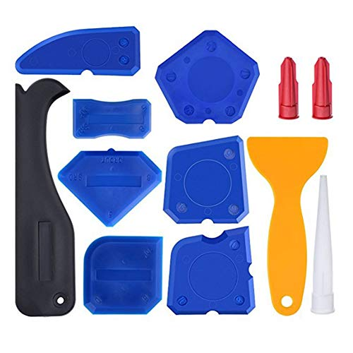 Abnaok Silikonentferner, 12 Stücke Silikon Fugenwerkzeug Fugenglätter Set Dichtmittelelentferner für Küche Badezimmer Boden (12pcs)