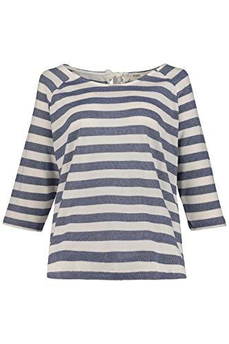 Ulla Popken Damen große Größen Sweatshirt perlblau 54/56 720630 75-54+