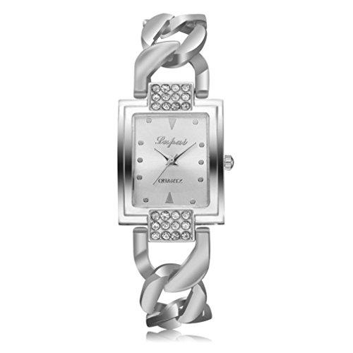 MALLOOM® LVPAI Vente chaude De Mode De Luxe Damen Montres Femmes Armband Montre Uhr (Silber D)