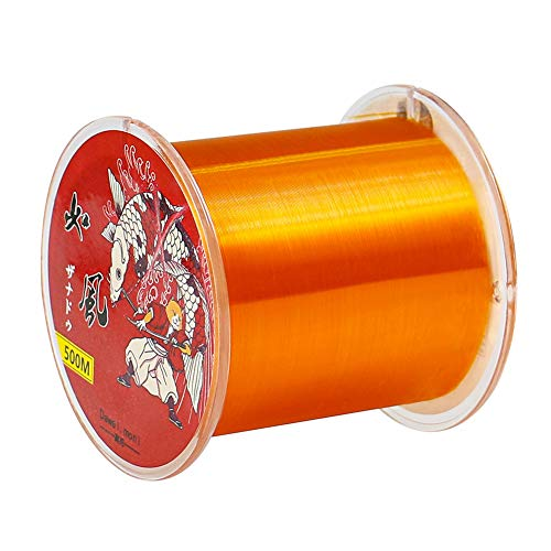 Premium Monofilament Fishing Line - Monofilament Fishing Line 500Yds - Ultimate Strength Abrasion Resistant Leader Line Strong Mono, Mono Fishing Line 10-35LB, Low- & High-Vis Available