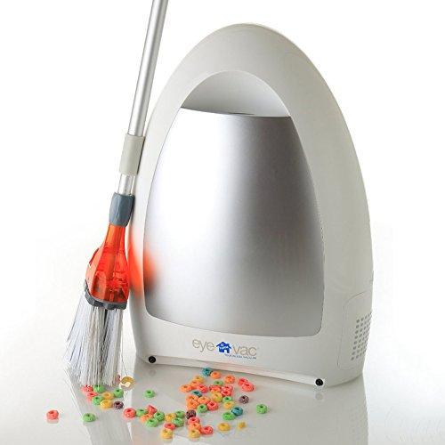 EyeVac Home Automatischer Staubsauger Saugroboter ohne Beutel Bodenstaubsauger 1000 Watt 3L (Weiss)