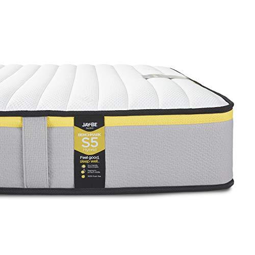 JAY-BE Benchmark S5 Hybrid Eco Friendly Mattress, Foam Free, Double