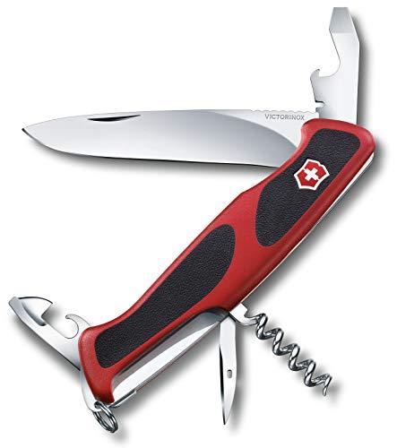 Victorinox Taschenmesser Ranger Grip 68 (11 Funktionen, Feststellklinge) rot/schwarz