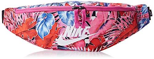 Nike Women's Heritage Hip Bag One Size Floral Pink White