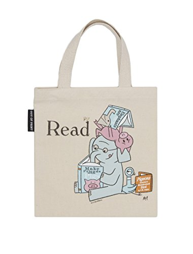 Out of Print Elephant and Piggie Read Kid's Tote Bag, 10.5 X 10.5 Inches