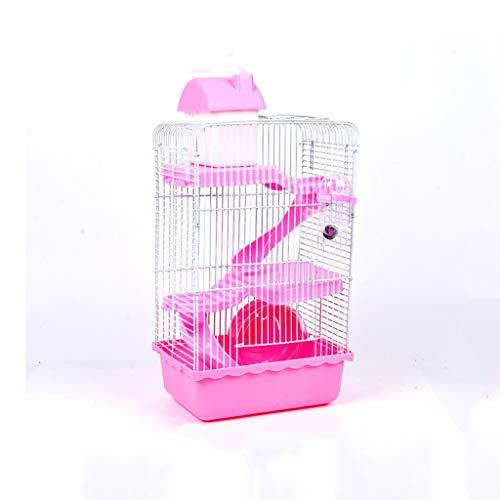 ZCWYP Pet Hamster Cage Luxury House Portable Mice Home Habitat Decoratio
