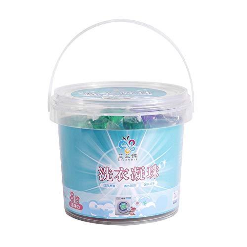 iSpchen - Perlas de detergente concentradas de 80 / 60 bolas limpias para detergente orgánico disolver bola de suavizante de tela para ropa de casa, accesorios de limpieza