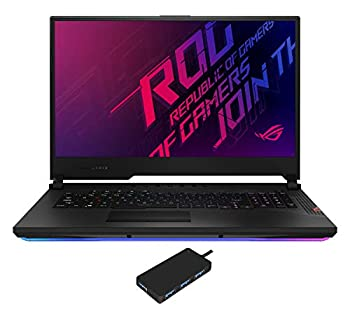 ASUS ROG Strix Scar 17 Gaming and Entertainment Laptop  Intel i9-10980HK 8-Core 32GB RAM 2TB PCIe SSD 17.3  Full HD  1920x1080  RTX 2080 Super WiFi Bluetooth Win 10 Pro  with USB Hub