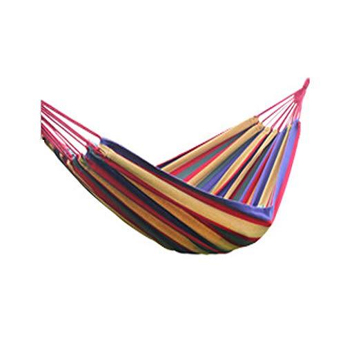 CNAJOI-TDFY Doppel-Hollywoodschaukel, Outdoor-Hängematte für Reisen, Camping und Wandern, Garten, tragbar und atmungsaktiv, 200 x 150 cm