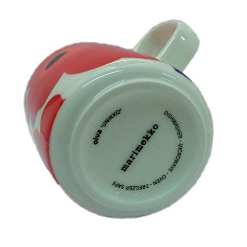 [マリメッコ]marimekko63431UNIKKOウニッコマグカップ250ml2色2個セット(ホワイト×レッド)(ホワイト×ダークブルー)ペア[並行輸入品]