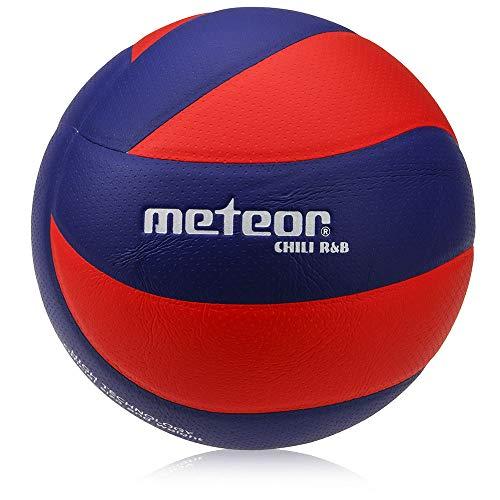 meteor Chilli Volleyball Mini Bälle fur Kids Größe 4 und 5 Volleybälle fur Damen - Micro PU Kunstleder aus Mikrofaser (#5, Chili R&B)