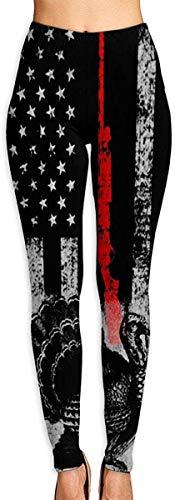 lanjiangbaih Leggings da Donna Pantaloni da Yoga Turchia Caccia Bandiera Americana Tummy Control Pilates Capris Sottili