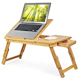 Bamboo Laptop Desk,Adjustable...