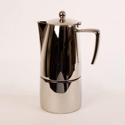 Ilsa Slancio Espressokocher, 10 Tassen, poliert