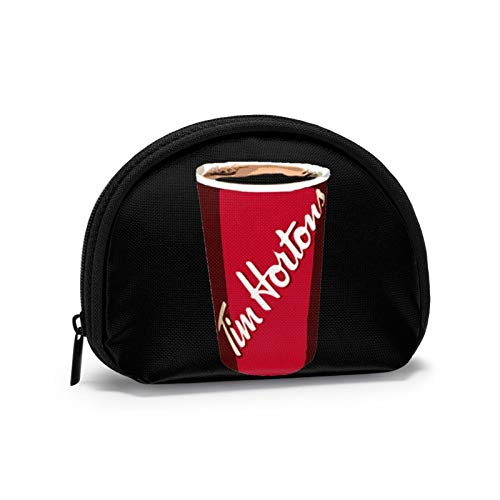 Tim Horton'S Cup Small Coin Purse Wallet Bag Card zipper Bag Cosmetic Bag Portable Change Pouch Key Holder