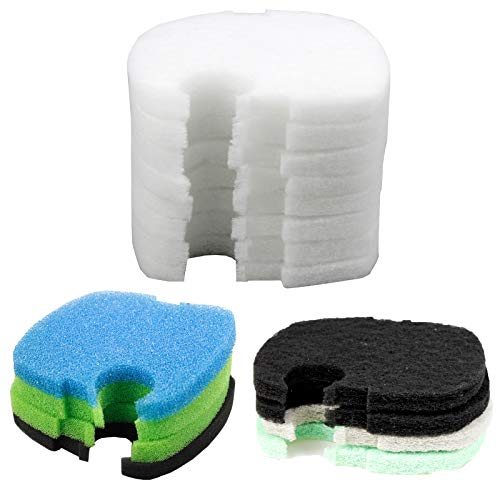 AQUANEAT Replacement Filter Pads Compatible to Canister SUNSUN HW-304B/404B/704B/3000 CF500 Activated Carbon/Phosphate/Ammonia Aquarium Fish Filter Media