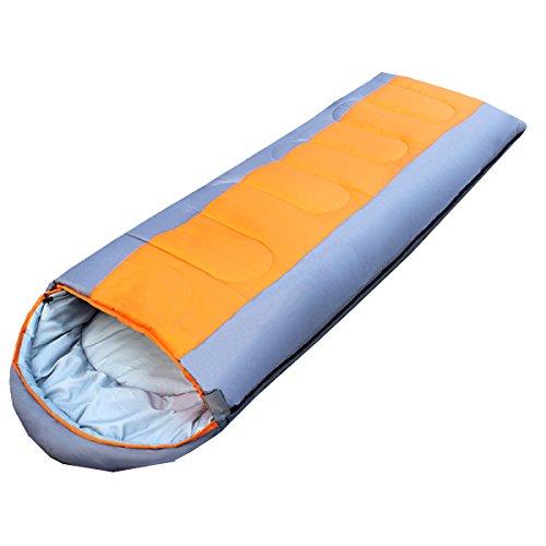 Sacs De Couchage De Loisirs En Plein Air Le Camping Yy.f Portable Sac à Dos Voyage 32F Saison Froide 3-4 Ultra-légers Et Compacts Sacs Sacs De Compression,Orange-(185+30)*75cm(1.8kg)