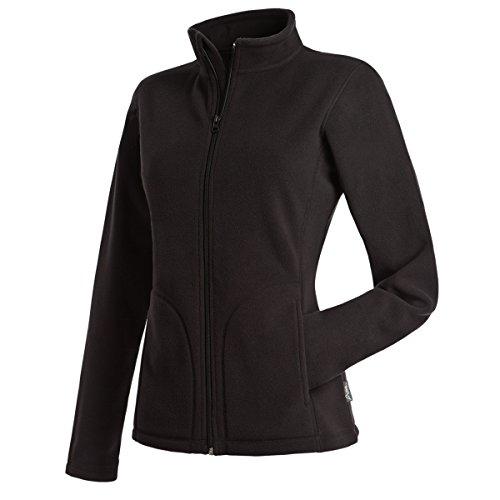 Active By Stedman Damen Fleece-Jacke (XL) (Schwarz) XL,Schwarz