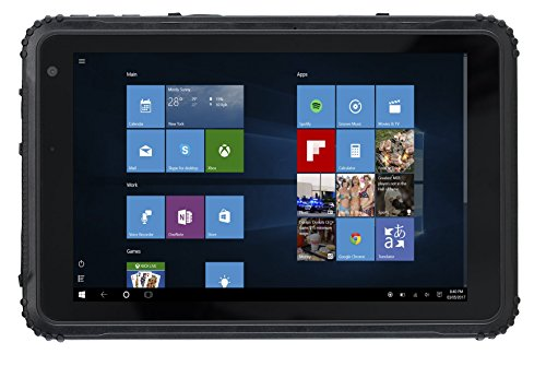 Caterpillar T20 Robustes Outdoor Tablet, 20,3 cm (8 Zoll) IPS LCD Display (64GB, Intel Z 8350 Quadcore, 2GB RAM, Windows 10 Home), IP67 (staub- und wasserfest), sturzsicher, Schwarz
