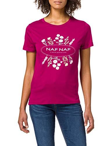 Naf Naf Ofleur Camiseta, Cosmos, XL para Mujer