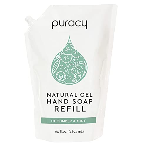 Puracy Hand Soap Refill, Cucumber & Mint, 64 Ounce, Skin Softening Natural Liquid Hand Wash