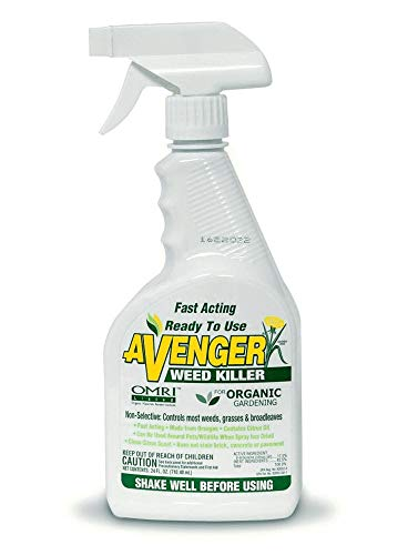 Avenger Organics Weed Killer, Biodegradable, Non-Toxic Ready to Use, 24 oz Spray