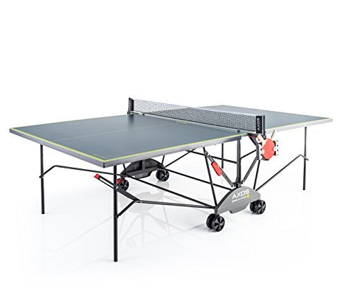 Kettler, Tavolo da Ping Pong Axos Outdoor 3Resistente alle intemperie, Pannello Leggero in Alluminio, Colore Grigio/Giallo