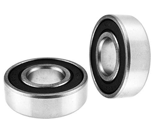 6200-2RS Rodamientos de bolas de ranura profunda 17 x 40 x 12 mm, rodamientos sellados de bolas delgadas, paquete de 2