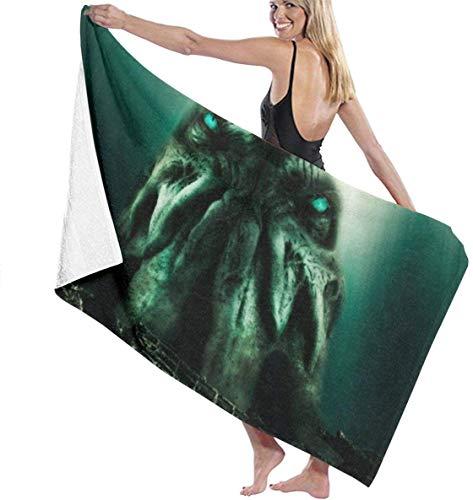 FETEAM Cthulhu Monster Deep of Sea Toalla de baño Mantas Suaves para la Piel Toalla de Piscina Toalla de Playa Gimnasio Yoga Toalla para Adultos