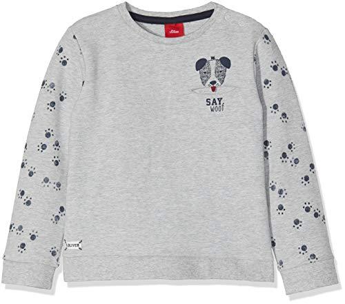 s.Oliver s.Oliver Baby-Jungen 65.809.41.7904 Sweatshirt, Grau (Light Grey Melange 9400), 80