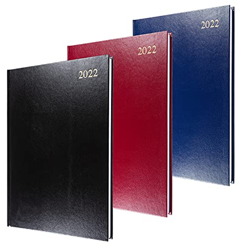 Collins Essential - Agenda giornaliera 2022, formato A4, colori assortiti
