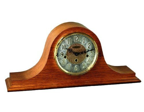 Laurel Westminster Chime Mantel Clock in Classic Oak by Hermle Clocks